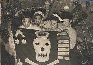 HMS UNBENDING's Jolly Roger 1943 - 1