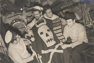 HMS UNBENDING's Jolly Roger 1943 - 2