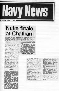 Churchill Navy News Report