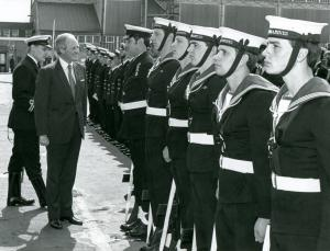 Churchill Winston Churchill inspects Guard