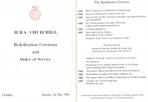 Churchill Re-Commissioning Programme