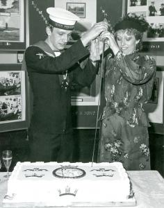 Churchill Cutting Commisioning Cake