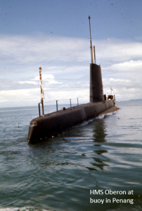 A HMS Oberon at buoy in Penang