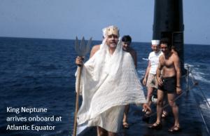 B King Neptune arrives onboard
