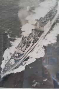 HMS Tiger-from the air