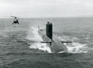 HMS Renown with helicopter credit National Museum of the Royal Navy