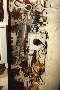 Alliance interior - 12 - Telephone at aft end of Motor Room
